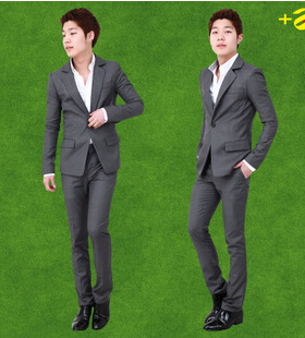 Hot and popular suits for men with pants with S size and grey color which can make you look more handsome and decent.(China (Mainland))