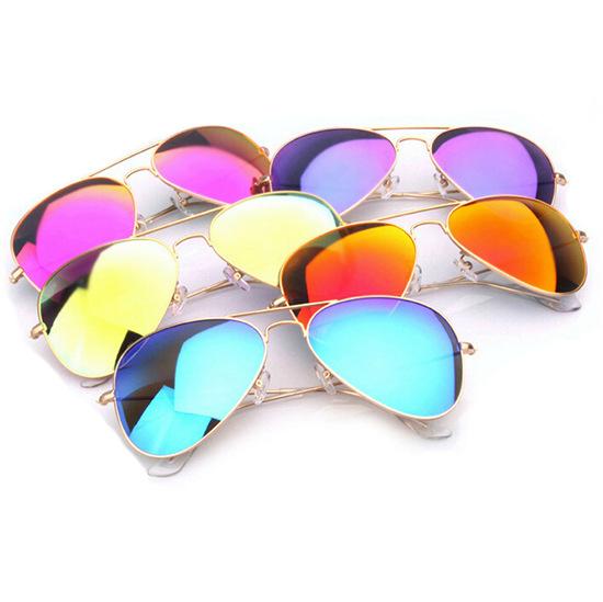 Logo sunglasses Fashion Aviator Mirror Brand Designer Men and women RB 3025 classic glasses UV400 Cheap Sunglasses With Logo(China (Mainland))