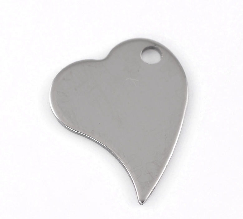 Promotional Models 10PCs Silver Tone Love Heart Stainless Steel Blank Stamping Tags Pendants 28x21mm Over $125 Free Express(China (Mainland))
