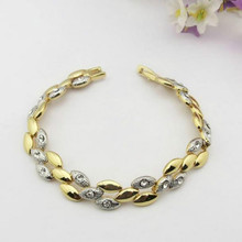 Chain Link vintage Bracelet Women jewelry screw gold bracelet crystal Hot Accessories(China (Mainland))