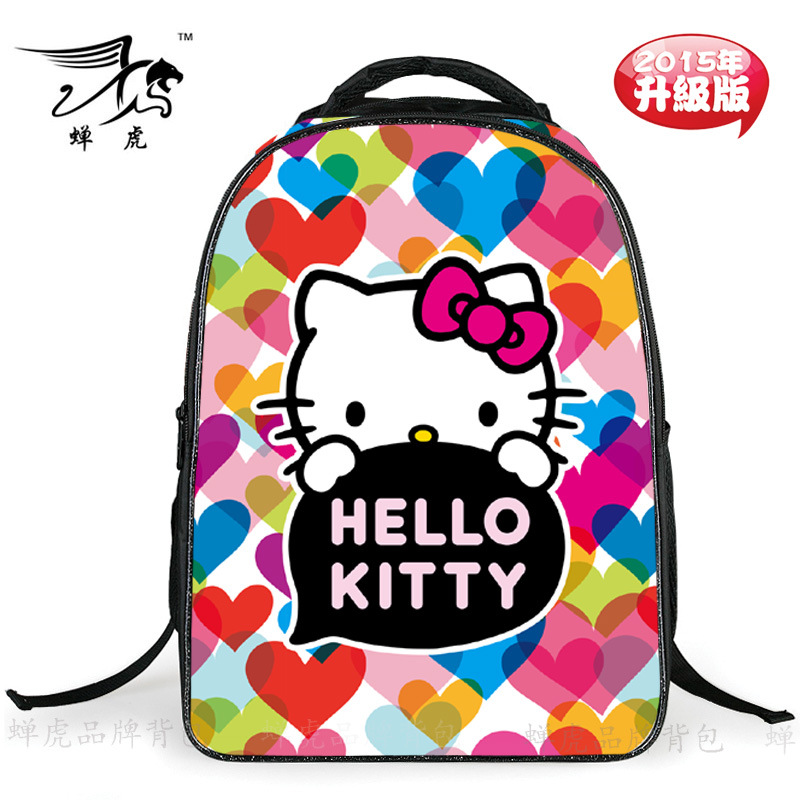 hot sale good quality new fashion children cute cat cartoon schoolbags reduce the heavy burdens girls backpack CH1502(China (Mainland))