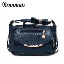 Beaumais Rivet Stone Pattern Women Messenger Bag 2016 New Designer Bag Quality Leather Women Shoulder Bags Bolsas Feminina BG517