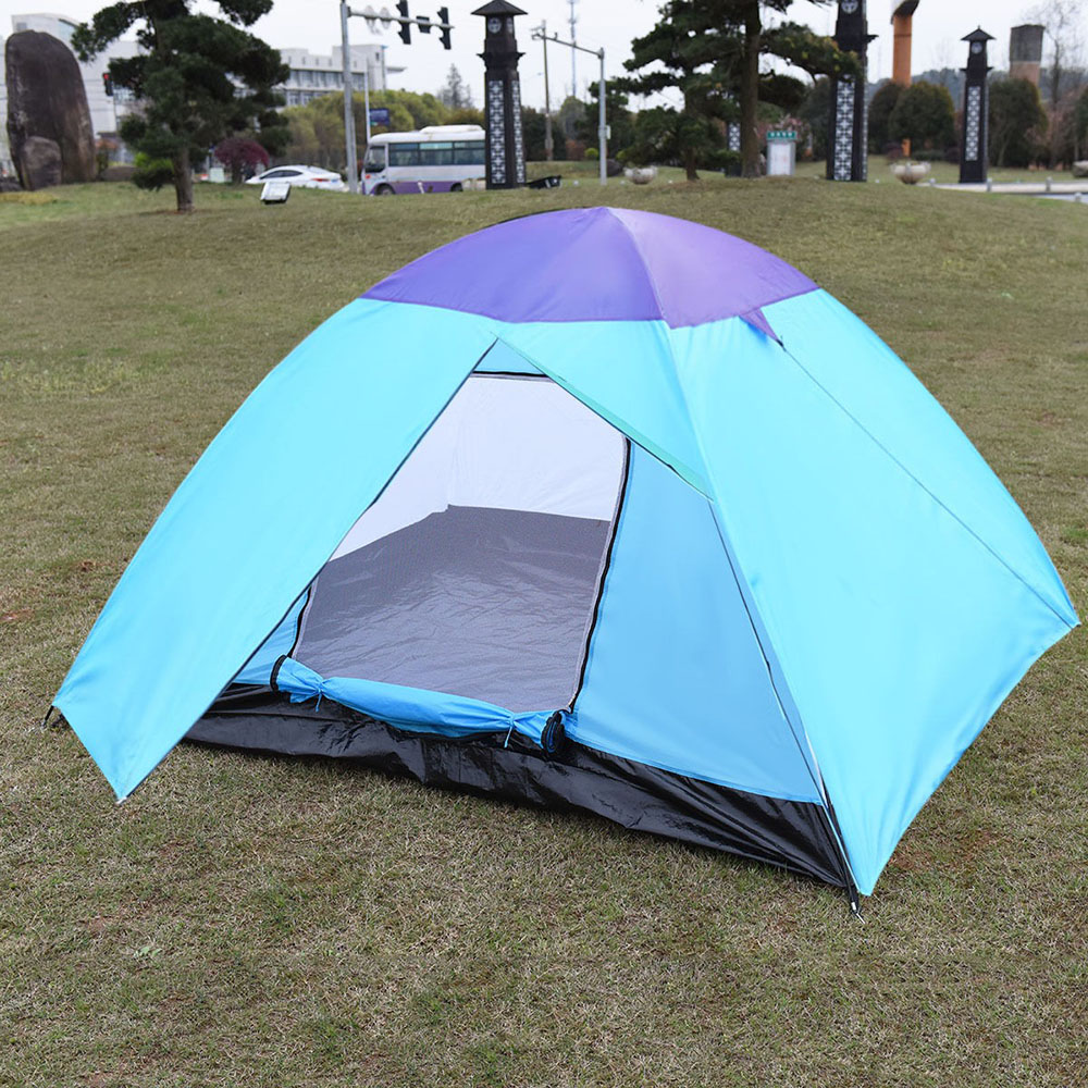 4-5 Person Outdoor Tents Waterproof Hiking Fishing Beach Tent Foldable Travel Camping Tent with Bag (27''+83'')x 94''x 51''(China (Mainland))
