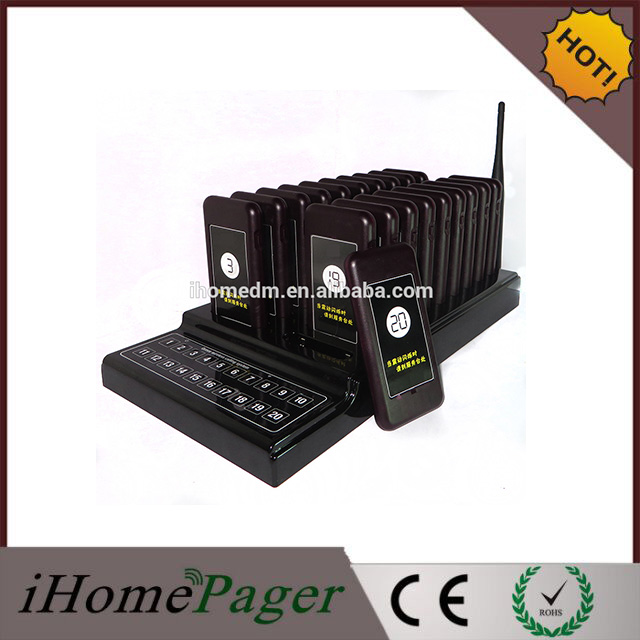 Hot Sell Restaurant Equipment for Sale Wireless Paging System With 20 pagers(China (Mainland))