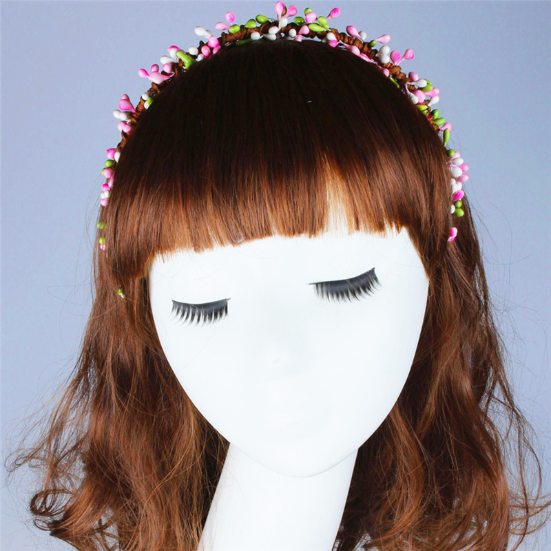 2016 Korean Mori Girl Flower Crown Hairband FlowerJam Wedding Party Hair Wreath Fashion Beach Holiday Christmas Hair Accesories(China (Mainland))