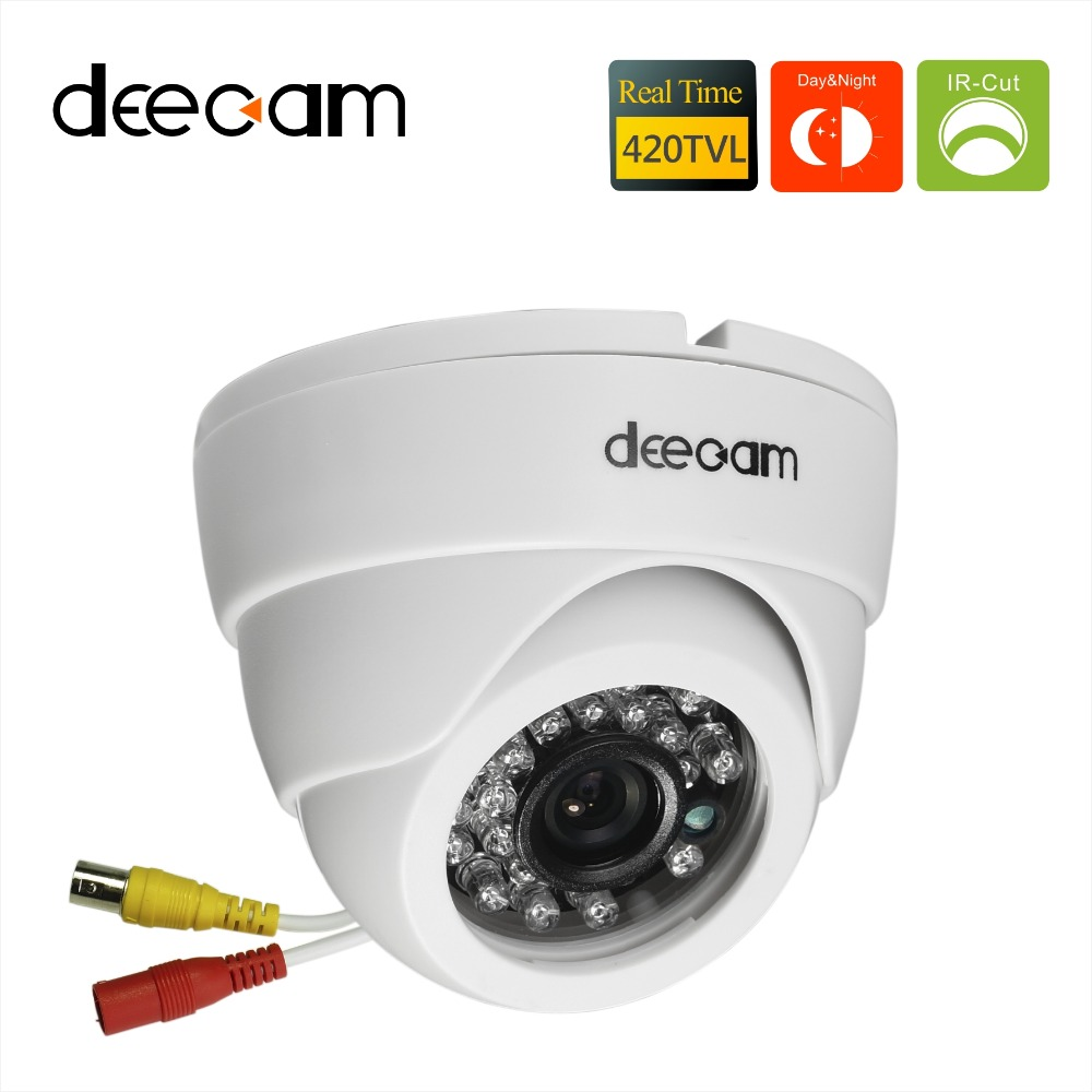 Deecam Sony ccd 420TVL IR Lens 3.6mm Distance 20M CCTV Indoor Dome Security Camera Home Surveillance Camera camaras de seguridad(China (Mainland))