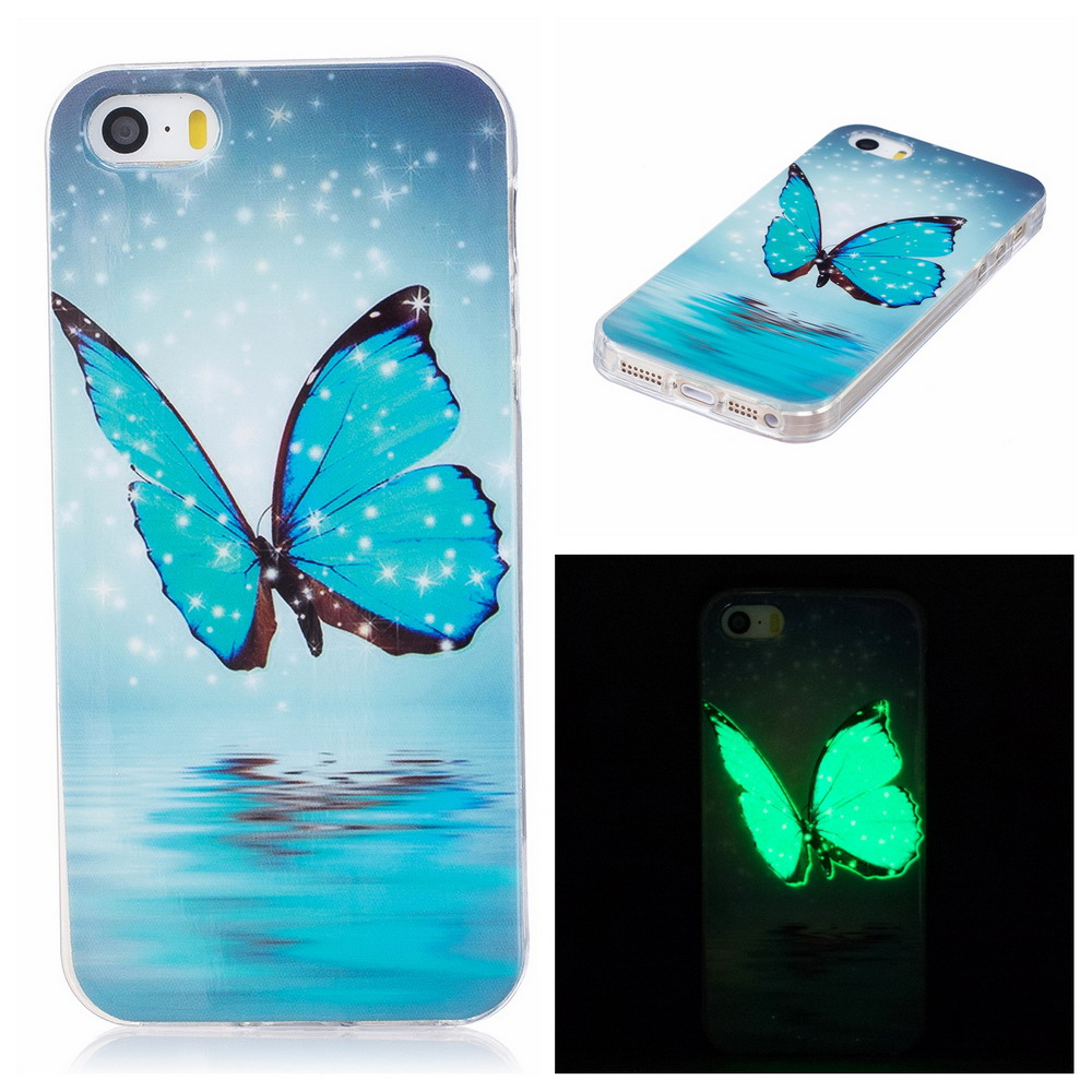 Newest Noctilucent Pattern Soft back Cover mobile Phone cases for Apple iPhone 5s SE TPU Case Spain France USA Russia UA BY(China (Mainland))