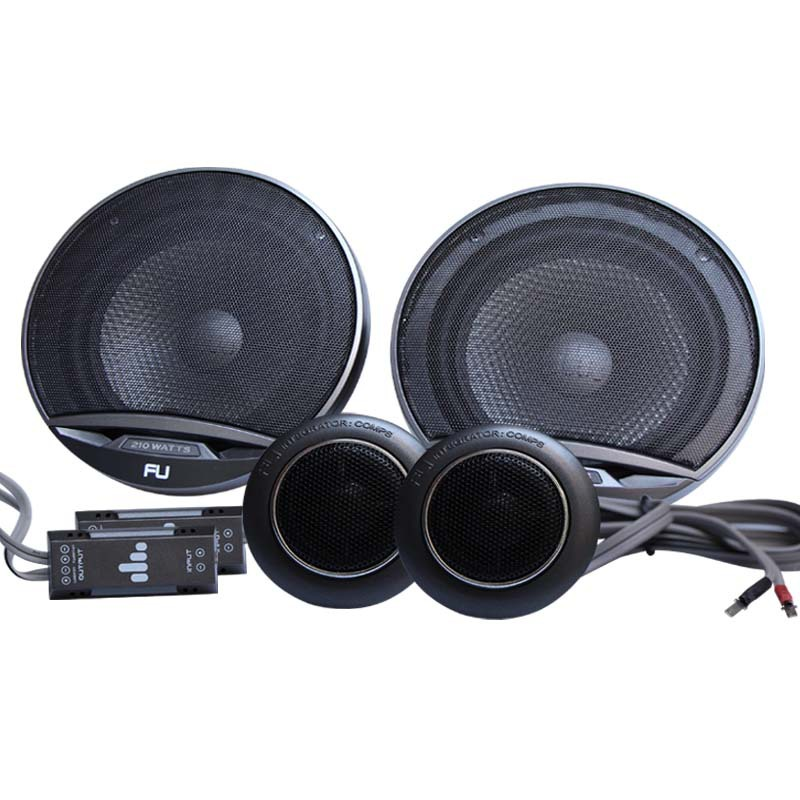 UK net imports of car stereo FLI FU6 COMP 6.5 inch car speakers crossover with security(China (Mainland))