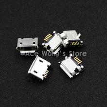 New high quality 10pcs/LOT  Micro USB 5P,5-pin DIP Micro USB Jack,5Pins Micro USB Connector Tail Charging socket(China (Mainland))