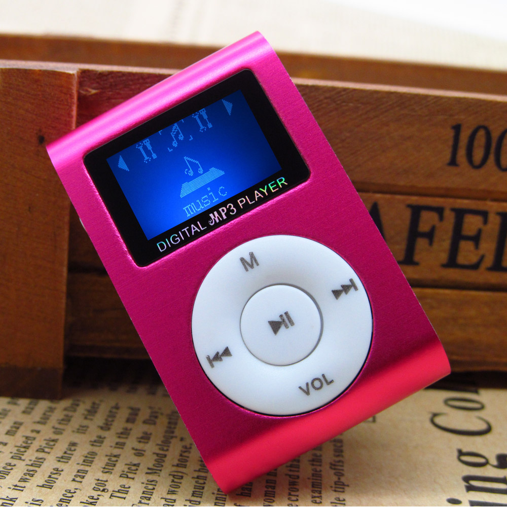 LCD Screen Clip MP3 Player Mini metal multicolor MP3 Music Player with Micro TF SD Card