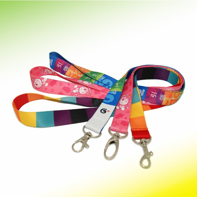 2016 hot selling 2.0*90CM Polyester sublimation lanyard with own logo printing(China (Mainland))