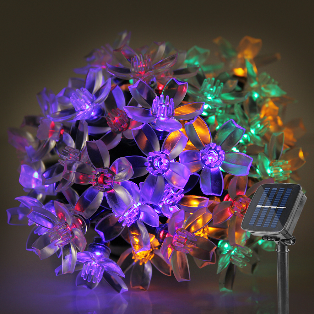 5M Solar LED String Lights Waterproof Fairy Lights LED Light Outdoor Garden Lighting For Christmas Festival Party Decoration(China (Mainland))
