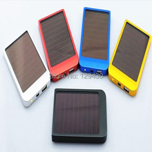 Promotion!! Quality Cell Mobile Phone MP3 MP4 Game Player 2600mAh USB Solar Charger Portable Power Bank Charger OEM, 200pcs/lot(China (Mainland))