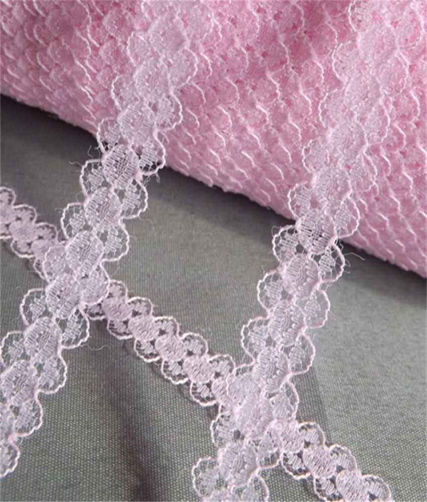 Width 12mm Beautiful 25yards 11 color Embroidered Net Lace Trim Garment ribbon headband wedding party decoration