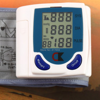 1 PC Digital LCD Wrist Arm Blood Pressure Monitor With Heart Beat Rate Pulse Measure Health Care Monitors