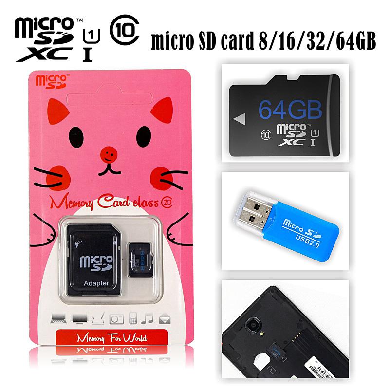 Micro SD card class 10 box1,2,4,8,16,32,64GB USB 2.0 Flash Memorycard SDcard(China (Mainland))