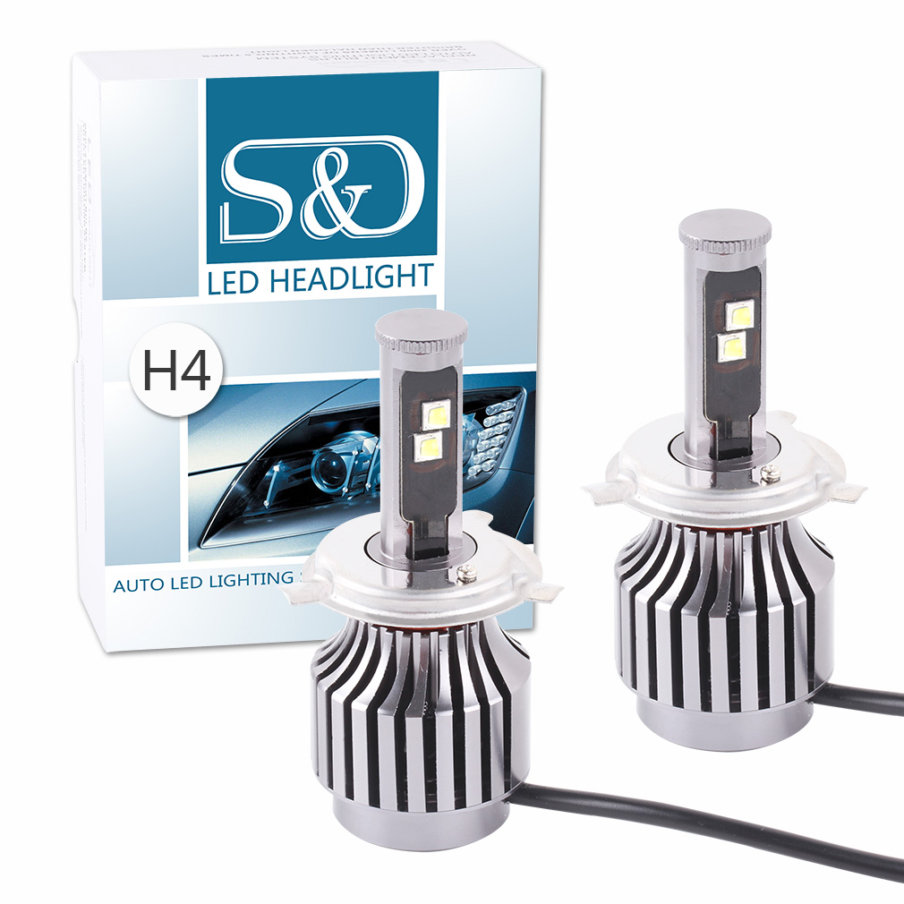 All-in-one design 80W 8,800Lm H4 HB2 9003 Cree Led Chip Headlight Bulbs Conversion Kit H7 H11 H8 HB3 9005 HB4 9006 30W/Bulb D05(China (Mainland))