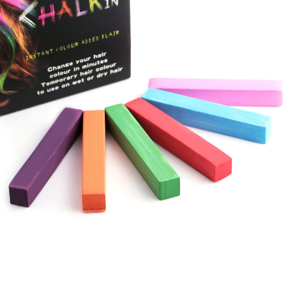 6 Colors Non-toxic Soft Pastels Hair Crayons Kit Temporary Dye Chalk Personalized Beauty Hair Color for DIY Hair Styling Tools