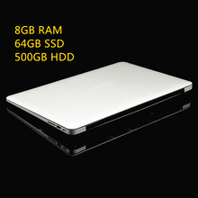 8GB Ram+64GB SSD+500GB HDD Ultrathin Quad Core J1900 Fast Running Windows 8.1 system Laptop Notebook Computer, free shipping(China (Mainland))