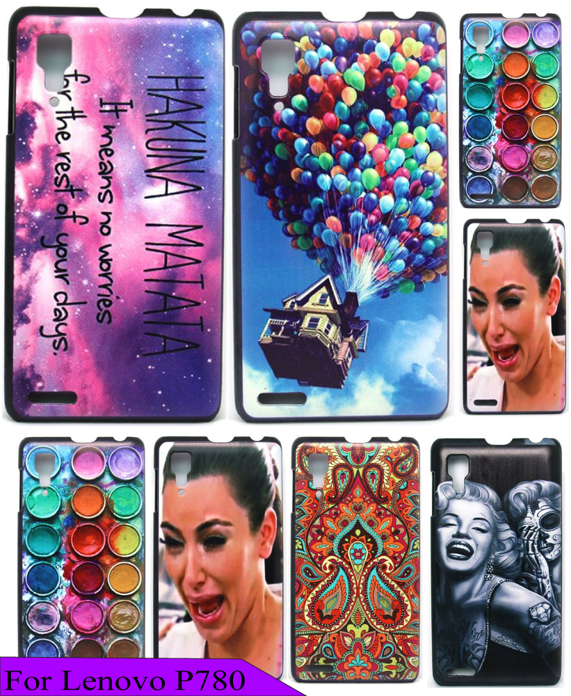 New Arrival Dirt Proof Beauty Painting Hakuna Matata Space Style Custom Cover Case for lenovo P780 High Quality Hard Plastic(China (Mainland))