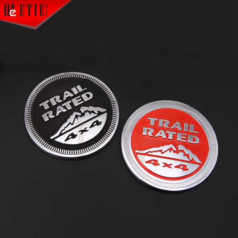 2015 ETIE Dia 5.6 Red Black Trail Rated Snow Mountain 3D Zinc Alloy Metal Emblem Motor Decals Wrap Modified Logo Accessories(China (Mainland))