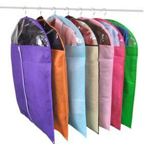 Clothing suit dust cover non-woven thickening transparent dust cover storage bag clothes cover dust bag(China (Mainland))