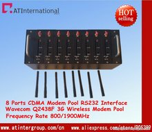 CDMA 3G Wireless GSM/GPRS 8 Ports Modem Pool With Wavecom Q2438F USB