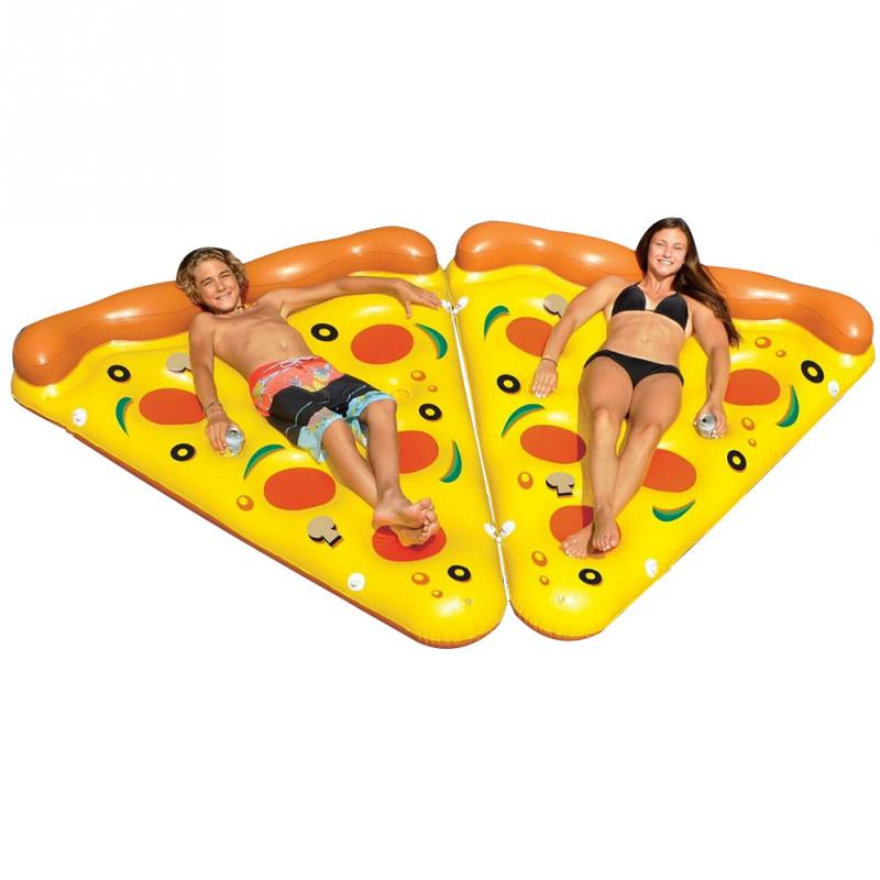 Summer Novelty Pizza Inflatable Floating Row Swimming Pool Floating Water Rafts Air Bed Lounger Toys(China (Mainland))