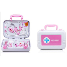 Portable Miniature Simulation Doctor Nurse Medical Role Plays Set Case Baby Kit Classic Educational Toy Free Shipping
