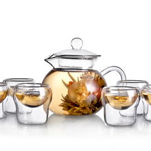 Teatime herbal tea 1 pot 6 cup combination set classic teacup