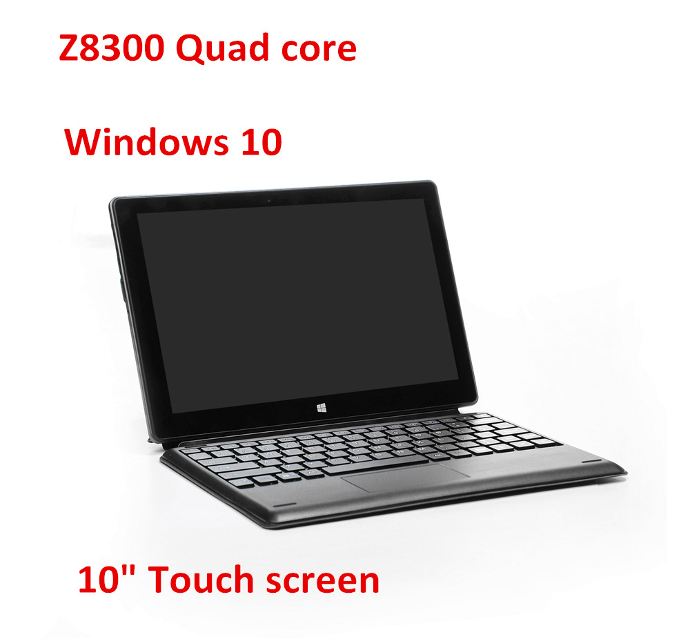 10inch mini laptop Windows 10 netbook Z8300 quad core processor touch capacitive screen dual cameras notebook computer(China (Mainland))