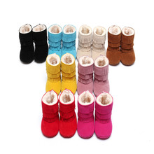 Baby Shoes Infants PU Leather Boots Toddler Girl Boy Snow Boot Shoes Keep Warm Soft Bottom Newborn Tassel Baby Winter Booties(China (Mainland))