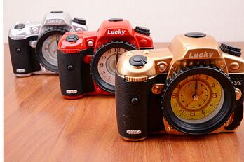 2015 Creative Vintage Camera Alarm Clock Watch Shape Gifts Upscale Furnishings Boutiqu Desk Clock(China (Mainland))