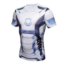 Captain America T Shirt 3D Printed T-shirts Men Marvel Avengers 3 iron man Civil War Tee Fitness Gym Clothing Male Crossfit Tops