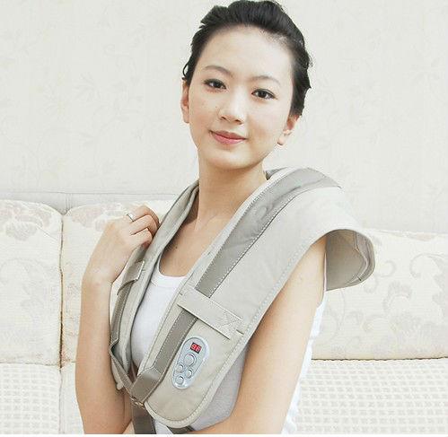 2014 High quality! Tapping neck shoulder massage , whole body massager, neck massage belt 1 pcs(China (Mainland))