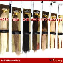 "XCSUNNY Nano Hair Extensions Remy Human Nano Rings Hair 100g 100beads+18"" 20"" Nano Bead Hair Extensions Human Brazilian Hair(China (Mainland))"