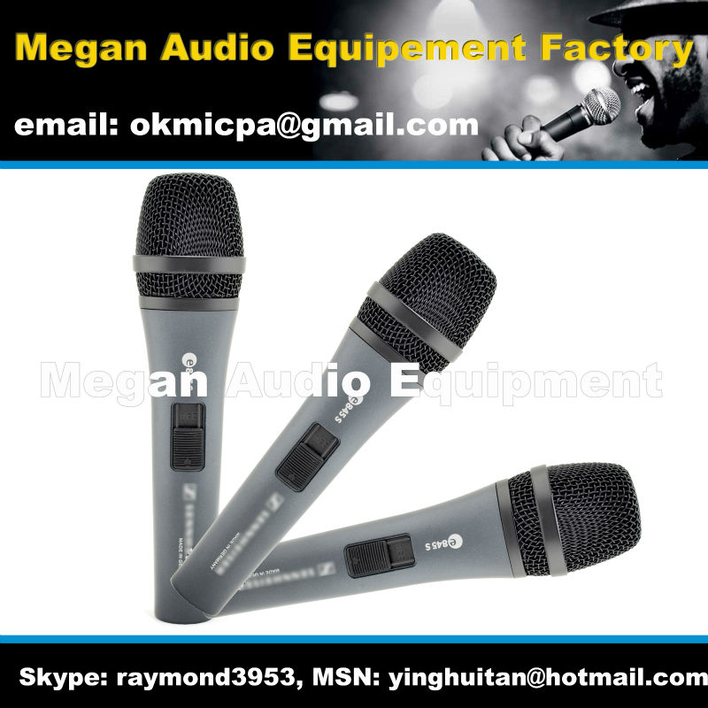Free shipping, 3pcs/lot Grade AAA  e845 with Switch wired microphone for senheiser wired microphone<br><br>Aliexpress