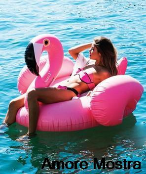 Hot Summer Pool Toy Giant Inflable Flamingo Water Float For Adult 1.6m/1.9M Ride-On Pool Toy Inflatable Swim Ring FREE BY DHL(China (Mainland))