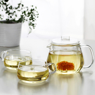 Heat resistant glass tea set set tea set glass flower pot belt teapot coffee pot 200ml