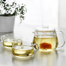 Heat-resistant glass tea set set tea set glass flower pot belt teapot coffee pot