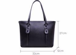 Fashion Drawstring Ornament Women Black&Grey Tote Bag  Functional Shoulder Bag Ladies Casual Designer PU Large Bag