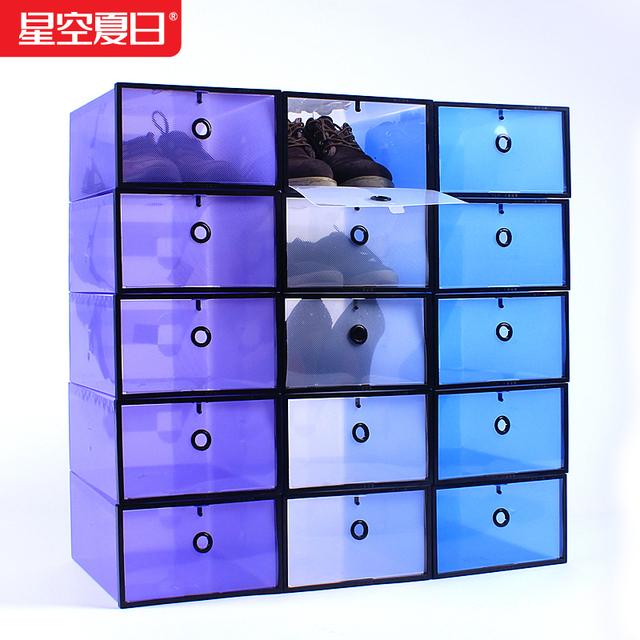 Pl stico diy cristal engrosamiento caja de zapatos caja de - Cajas transparentes para zapatos ...
