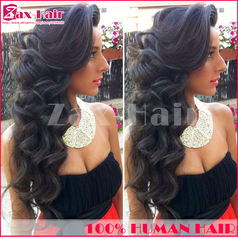 u part wig brazilian unprocessed brazilian hair u part wigs Middle/left/right New Arrival 2014 for black women color #1 #1b #2#4