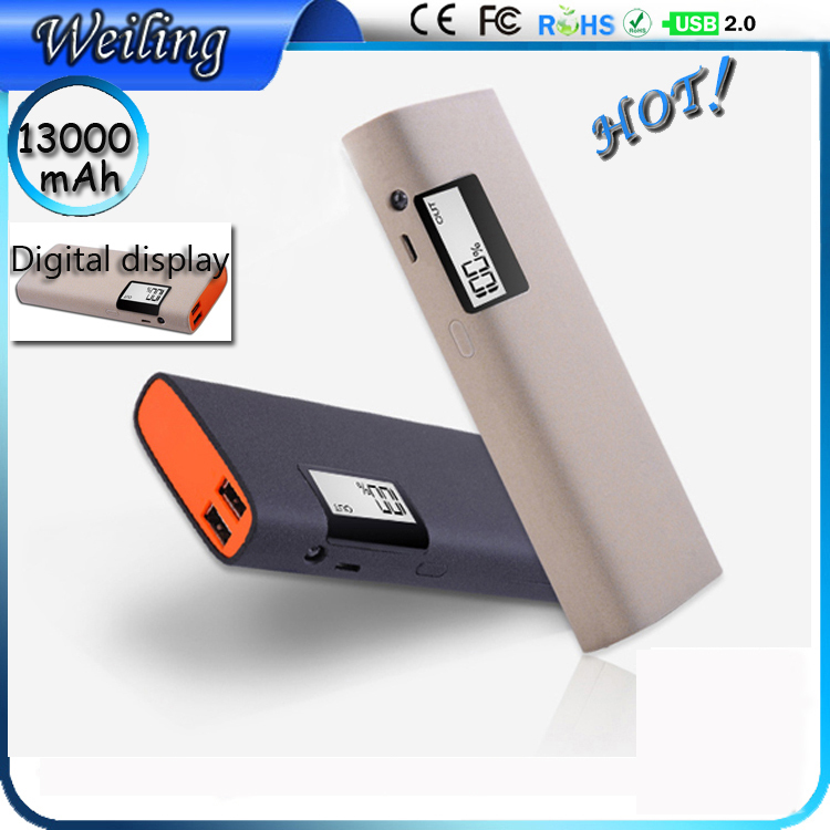 Hd digital display usb travel power bank 13000mah extra power bank for mobile /ipad/camera digital display power bank(China (Mainland))