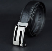 2015 New Men genuine leather belt cowhide high quality auto locked S buckle leather strap 3 Extra large size free shipping(China (Mainland))