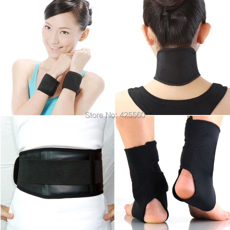 Tourmaline Self Heating Magnetic Therapy Waist Wrist Support Ankle Pad Magnetic Neck Pad Belt Massage(China (Mainland))