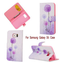 Luxury Fashion PU Leather Diamond Flip Mobile Phone Case For Samsung Galaxy S6 G9200 Wallet Holster Cover Bag For Galaxy S6
