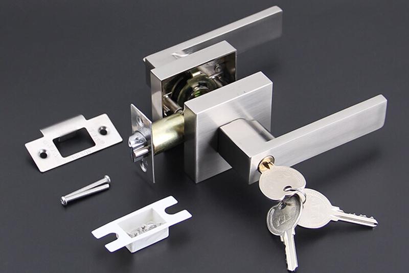 Купить Бесплатная доставка один болт замок номера дверные ручки интерьер замка с 3 шт. латунные ключи 3 цветов HM98