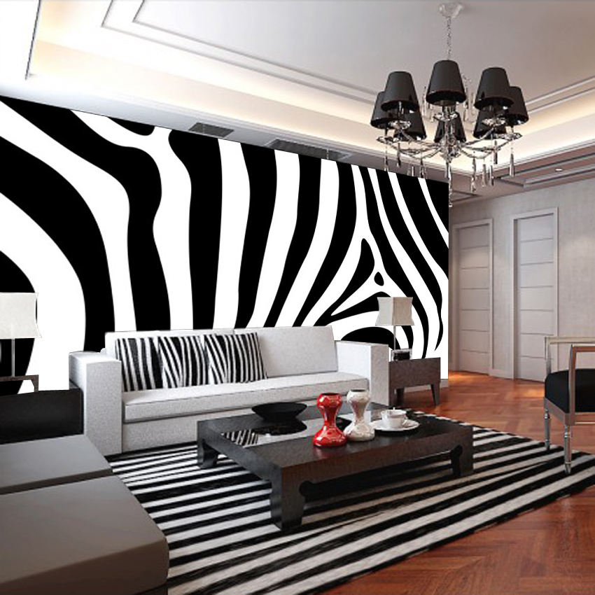 Black And White Striped Wallpaper Promotion Shop For