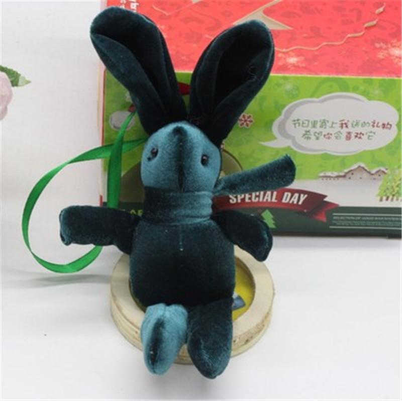 2017 New Special Rabbit Bunny Plush Toy Bag Phone Rabbits Dolls Pendants DIY Wishing Flower Bouquet Materials 15cm 10pcs (3)